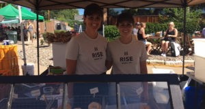 Jen and Kate Lloyd of Rise Bagel Co. at the Kingfield Farmers Market on Aug. 14