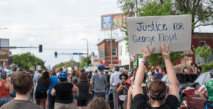 Thousands gathered on foot and in cars in south Minneapolis to protest against police violence and call for justice for George Floyd. (Photo by Fibonacci Blue/Flickr)